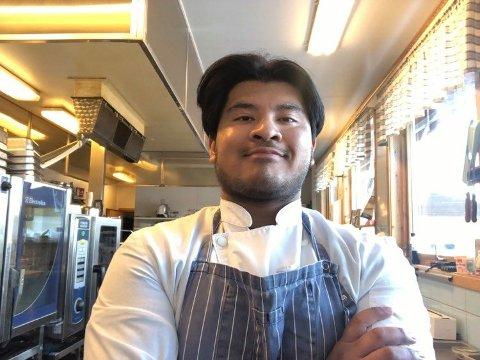 BYTTER BEITE: Kristian Miguel Larsen er per dato kjøkkensjef ved Vauldalen Fjellhotell, fra nyttår er han kokk ved Kvikne Fjellhotell og Kafé.