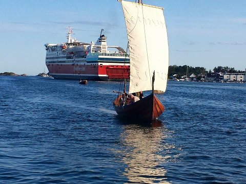 Kristina-skipet seilte for fulle seil.
