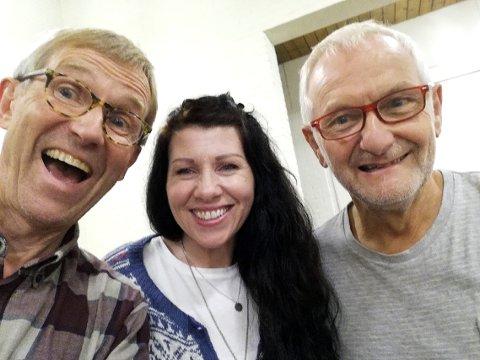 Jan Rosenvinge, Linda Kvam og Arvid Ådland håper mange tar turen til Torød på søndag.