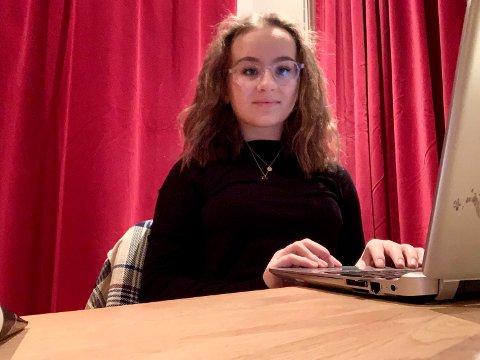 Celine Erlingsen Fridheim ville gjerne være med i ungdomsrådet og ble valgt etter avstemning på Tjøme ungdomsskole.