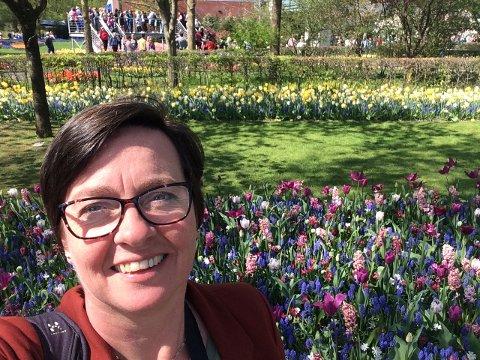Bildet ble tatt i fjor da Tonje Røgeberg byttet ut fjellpåske med storby og tulipaner i Amsterdam. - Et godt påskeminne det også, sier hun. Foto: Privat