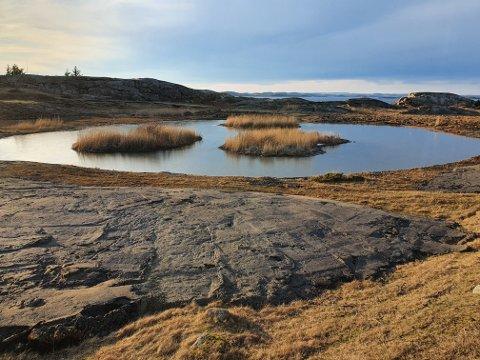 Her er det gjort arbeider. Området ligger sør for Mostranda og like nord for grensen til Færder nasjonalpark.