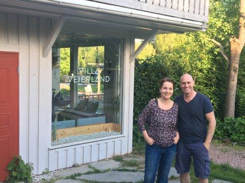 Raymond Johansen og Camilla Andresen-Lima har nok hatt noen hektiske uker, men nå åpner de dørene for kunder her igjen.