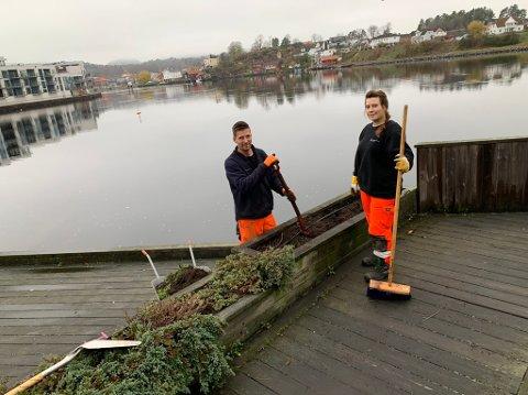 Camilla Korsnes og Jan Peter Koopman ryddet etter sommer og høst på plata.