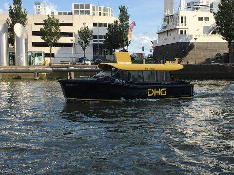 TAXIBÅT: Dette er en autonom vanntaxi i Rotterdam Havn – til inspirasjon for Porsgrunn?