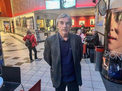 Kinosjef Tom Andersen var strålende fornøyd med besøket på Den store kinodagen.