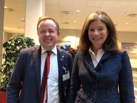 Robin Kåss og Ingrid Lorrange leder av ekspertutvalget