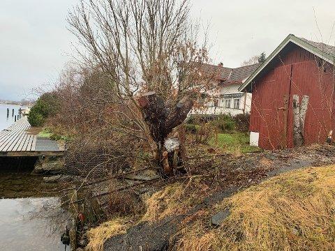 Kommunen foreslår å stenge med bom inn til båthuset til Kirsten Torbjørg Moen i Teknikergata 2.