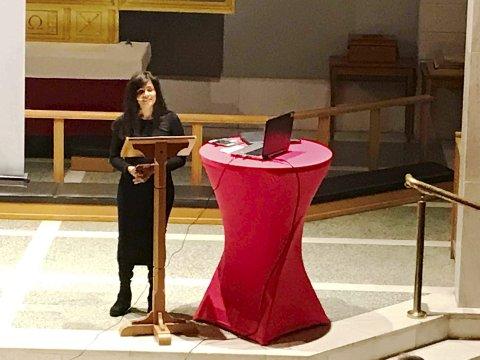BREVIK: Anita Kåss var med på Kvinnekvelden i Brevik kirke.