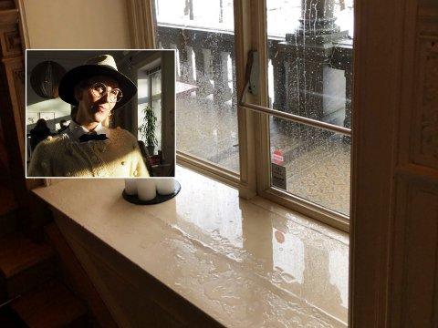 Dette synet møtte Villa Frednes-eier Mona Stenseth Erlandsen (innfelt) da hun våknet lørdag morgen.
