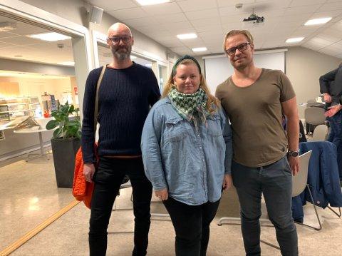 F.v. Geir Nordheim, Lena Barth Aarstad og Jan-Harald Lærum  fikk helt nye signaler om problemveien.