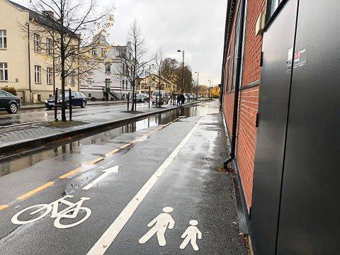 Mange klager på vann på denne strekningen. Foto: Øystein Gaaren