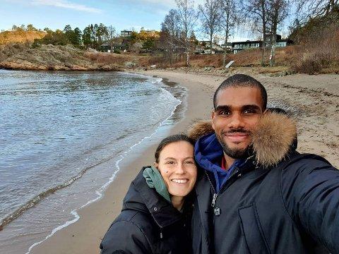 LARVIK MÅ VENTE: Spanske Victor Boquetale ble veldig begeistret for Larvik, og gleder seg til å kunne flytte hit sammen med Nora Skuggedal.