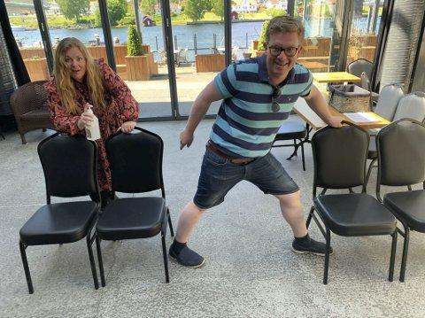 SPINKELT?: Det blir ikke mulig å spille for fulle hus så lenge 1-metersregelen gjelder. Barth Aarstad og Kvålseth forteller at stolene blir plassert to og to, med mellomrom på en meter mellom hver gruppe.