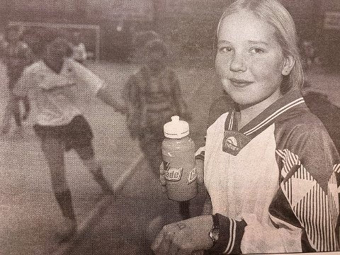BLID: Ingen sure miner hos Lene Øverland (12) fra Langesund sjøl om laget hennes endte på 4. plass.