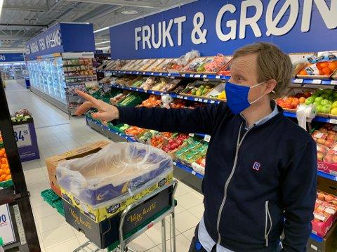 Kristian Skogen driver Rema 1000 Stridsklev. Dette er første gang et butikktyveri har blitt såpass voldsomt for kjøpmannen.
