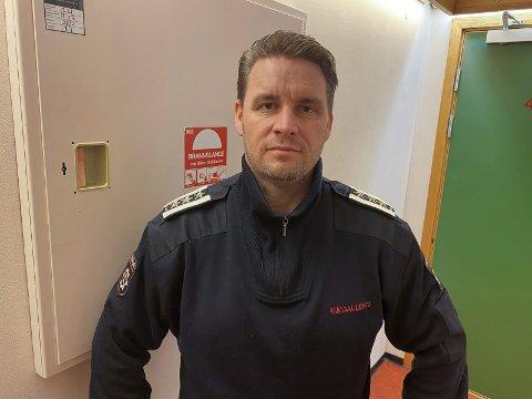 Positiv: Brannsjef Morten Meen Gallefos er positiv til at Skien nå er på banen igjen for å se på mulighetene for å bli en del av Grenland brann og redning. han frykter ikke at en utredning rundt dette vil forstyrre innkjøringsperioden for det nye interkommunale selskapet, som ble stiftet 1. januar i år.