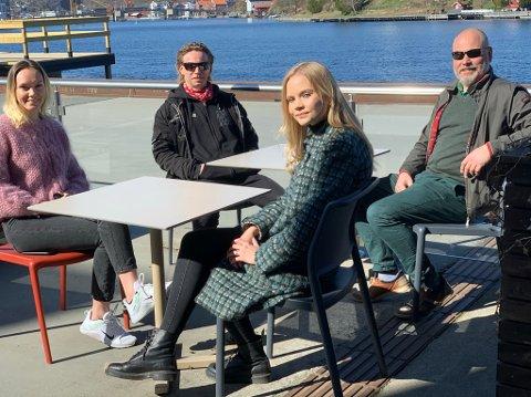 Ælvespeilet og Skagerak Energi vil løfte fram mindre etablerte artister i sommer. Fra venstre: Kristine Eldorsen, Pål Berby, Julie Myhre og Kristian Norheim.