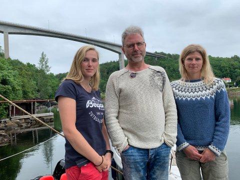 Marthe Nøklegård, Are Solli og  Mona Aaby i Langangen vel ønsker ikke å beholde Langangenbrua når nye E18 åpner.
