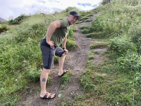 EN SKIKKELIG UTFORDRING: Kjetil Haugersveen har satt seg som mål å gå fem ganger opp og ned til Årdalsåsen på seks timer førstkommende lørdag.