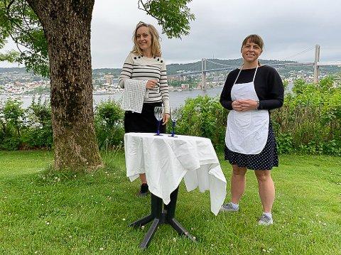 LUNSJ? Hanne Salvesen og Cecilie Landre inviterer til lunsj for to på det de mener er stedet med den fineste utsikten de vet om.