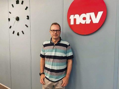 BEKYMRET: Teamleder Dag Aurstad ved NAV Porsgrunn mener de siste rapportene viser tegn til bekymring. Likevel har han tro på at vi går en lys framtid i møte.