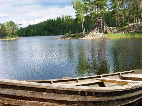 Friluftsliv: Det er båtutleie ved sørenden av Frønesjøen.
