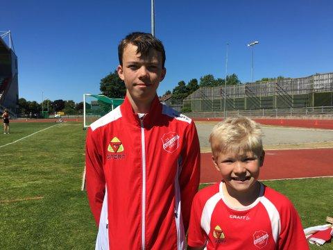Ludvig Engen (til venstre) og Åsmund Olaves Rud Lunde leverte begge fine prestasjoner under Mosselekene.