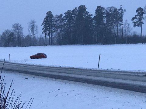 Utforkjøring ved Østfold Traktor på RV22.