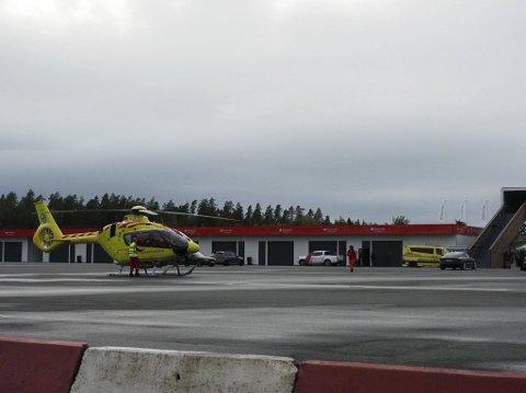 Ulykke på Rudskogen onsdag ettermiddag. Bilfører transportert til sykehus.