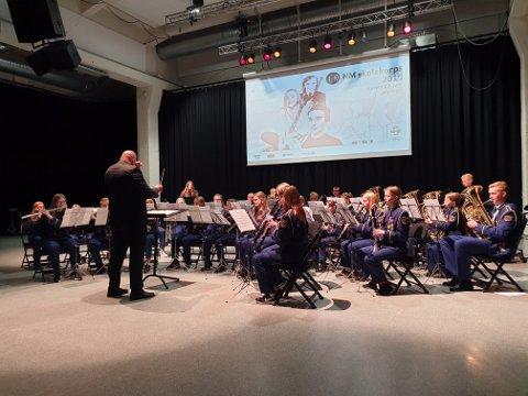 NM: Rakkestad skolekorps tok en 5.plass i tredje divisjon under NM i skolekorps og ble det beste korpset blant deltakerne fra Østfold.