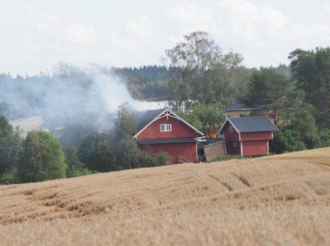Låvebrann i Sarpsborgveien