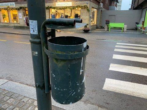 Vil ha nye: Det er blant annet disse søppeldunkene Signalprosjektet ønsker å erstatte.