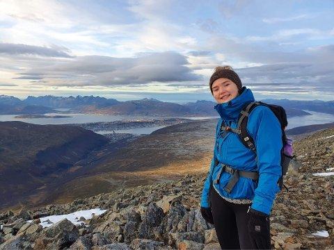 STUDENT I NORD: Randi Hjørnegård fra Rakkestad studerer grunnskolelærer i slående vakre Tromsø.