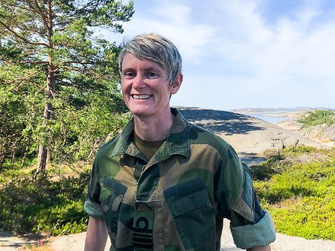 ØVINGSLEDER: Marit Strengen (43), opprinnelig fra Trøgstad, er sjef for HV-01.