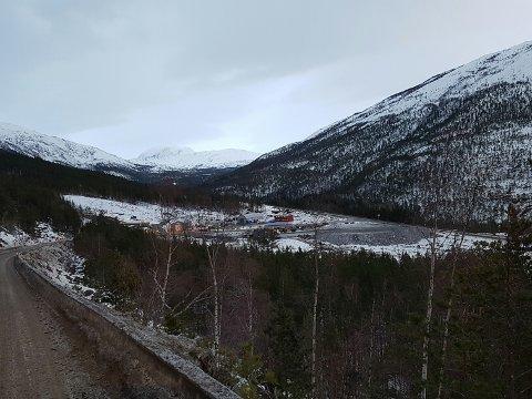 Arbeidet med Tjhernfjelltunnelen er godt i gang (Foto: Frank Helgesen, Statens vegvesen)