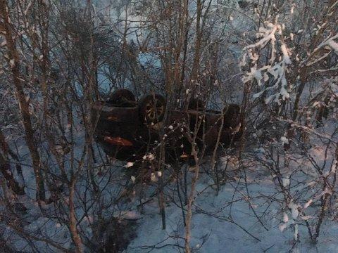 SUV: Slik ble bilen funnet på Nord-Tromsøya lørdag formiddag.