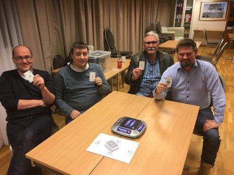 Spiller i finalen:Fra venstre Alexander Flakstad, Håkon Bogen, Brynjar Karlsen, Bernt Hagen