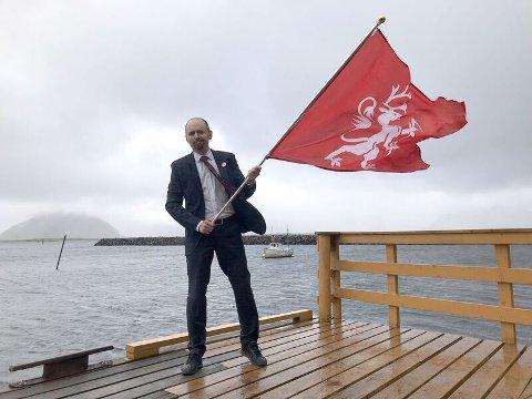 Klar for kamp: Amund Sjølie Sveen og hans medsammensvorne på NORDTING kommer til Træna.