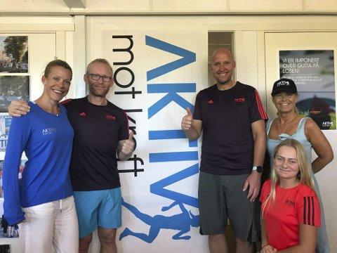 VIL hjelpe: Bjørn-Einar Nesengmo og Frode Thomassen vil både sette rekord på tandemsykkel og samle inn 1 million kroner til kreftsaken. Foto: Privat