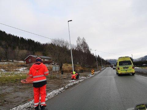 Statens vegvesen hadde sluttbefaring på Alteren mandag. Bildet er fra en tidligere befaring på samme sted. Fortsatt gjenstår noe arbeid med rekkverk.
