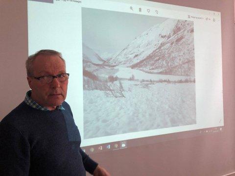 Bydriftssjef Ståle Lysfjord ber folk om ikke å dra opp i området der raset har gått.