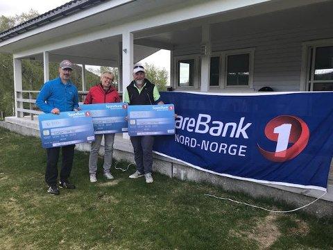 KLASSEVINNERNE: Fra venstre Stein Jonny Aas, Marie Elise Kaggerud og Rolf Evald Hansen.