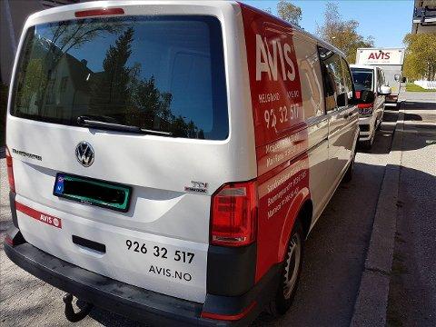 Slik ser VW Transporteren til Avis ut, som nå er stjålet.