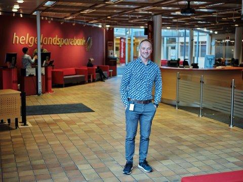 Sentrumsutvikling. Direktør for forretningsutvikling i Helgeland sparebank, Øyvind Karlsen
