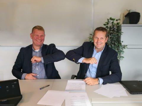 Eigil Dåbakk (t.v.) i SINTEF Norlab og Per Ove Øyberg i Nemko har inngått samarbeid.