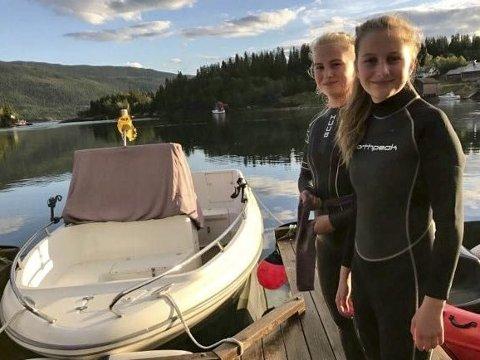 UTETRENING: Søstrene Lea og Dina Brendberg bor til daglig i Straumen og pendler daglig inn for svømmetrening. Lenge har de hatt utetrening.