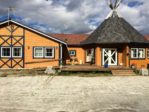 Hotellet på Majavatn under oppussing