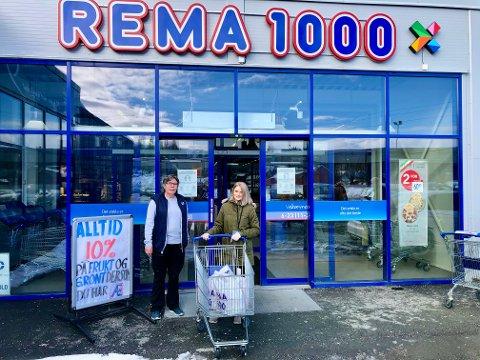 Varene pakkes på Rema 1000 i Ranenget.