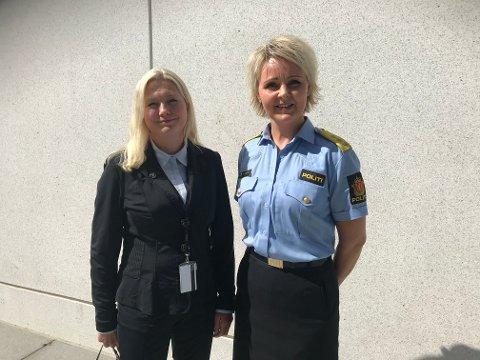 Monica A. Iveland, fungerende fylkesmann i Nordland og Heidi Kløkstad, politimester i Nordland.